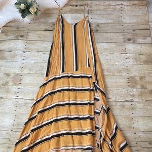Lush Mustard Stripe Maxi Dress size Large
